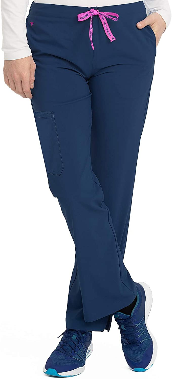 Med Couture Women's Energy One Cargo Pocket Pant, Navy, Medium