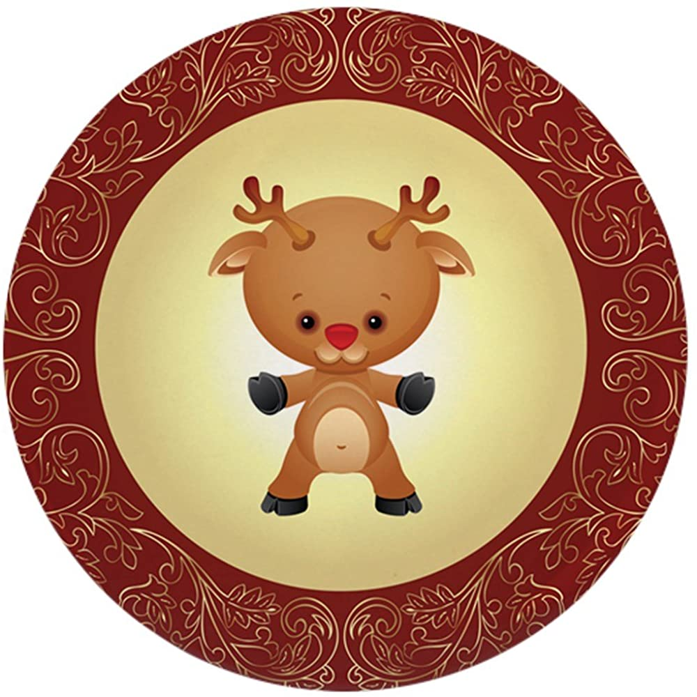 2.25 Inch Button Christmas Cuties Rudolf the Red Nose Reindeer