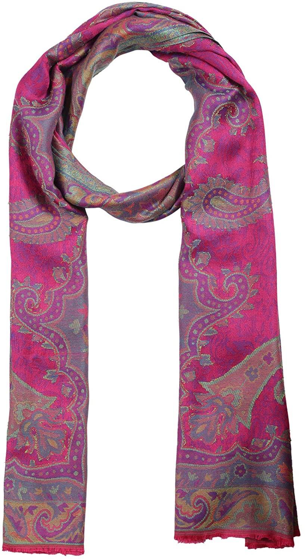 Pashmina Shawls and Wraps - Lenzing Modal Paisley Pattern Cashmere Scarf