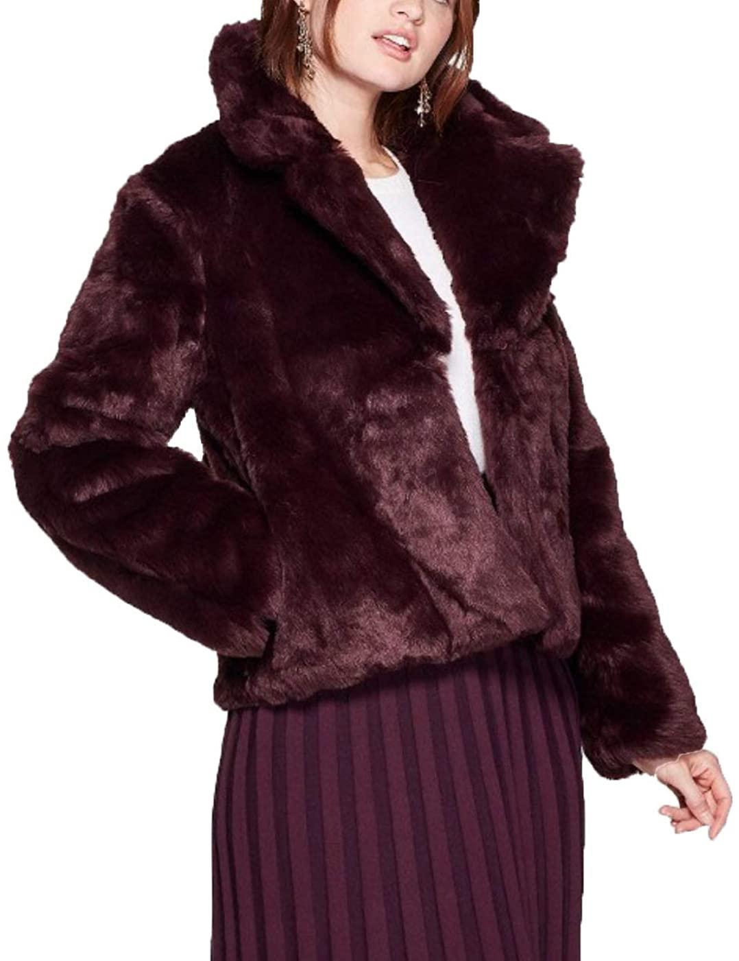 A New Day Women's Long Sleeve Faux Fur Jacket -