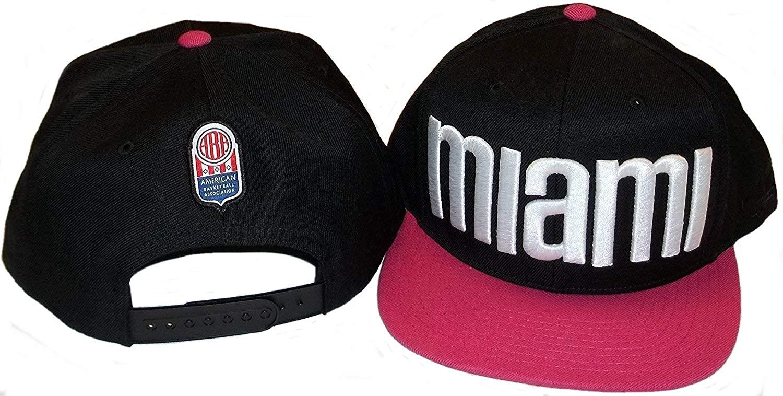 adidas ABA Miami Floridians Flat Bill Snapback Hat NZD15 Black, Pink