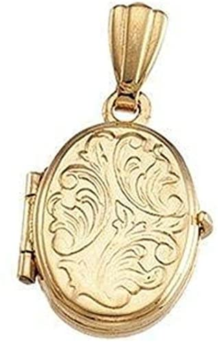 14 Karat Yellow Gold Oval Baby Locket