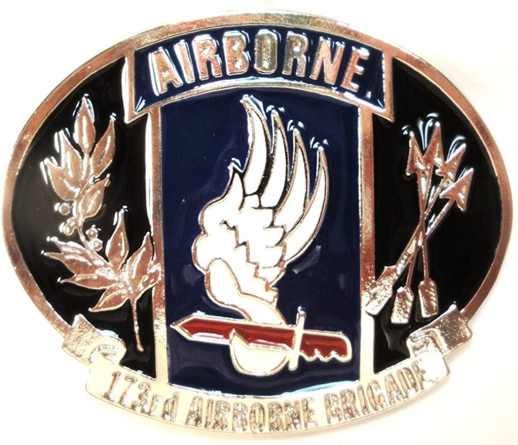 173RD U.S. AIRBORNE BRIGADE MILITARY BELT BUCKLE MADE IN USA