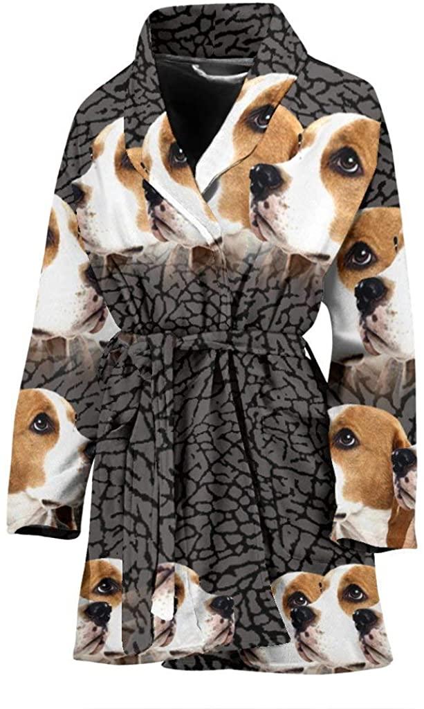 Pawlice Beagle Dog 3D Print Women's Bath Robe