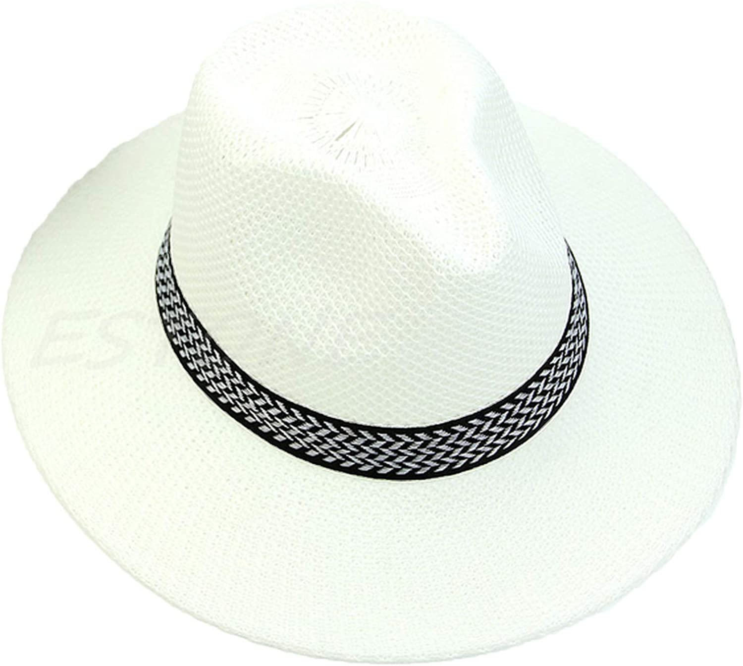 Women Mens Summer Linen Straw Hat Beach Sun Cap Fashion Hot Unisex Casual Middle-Age Male Solid New Cap