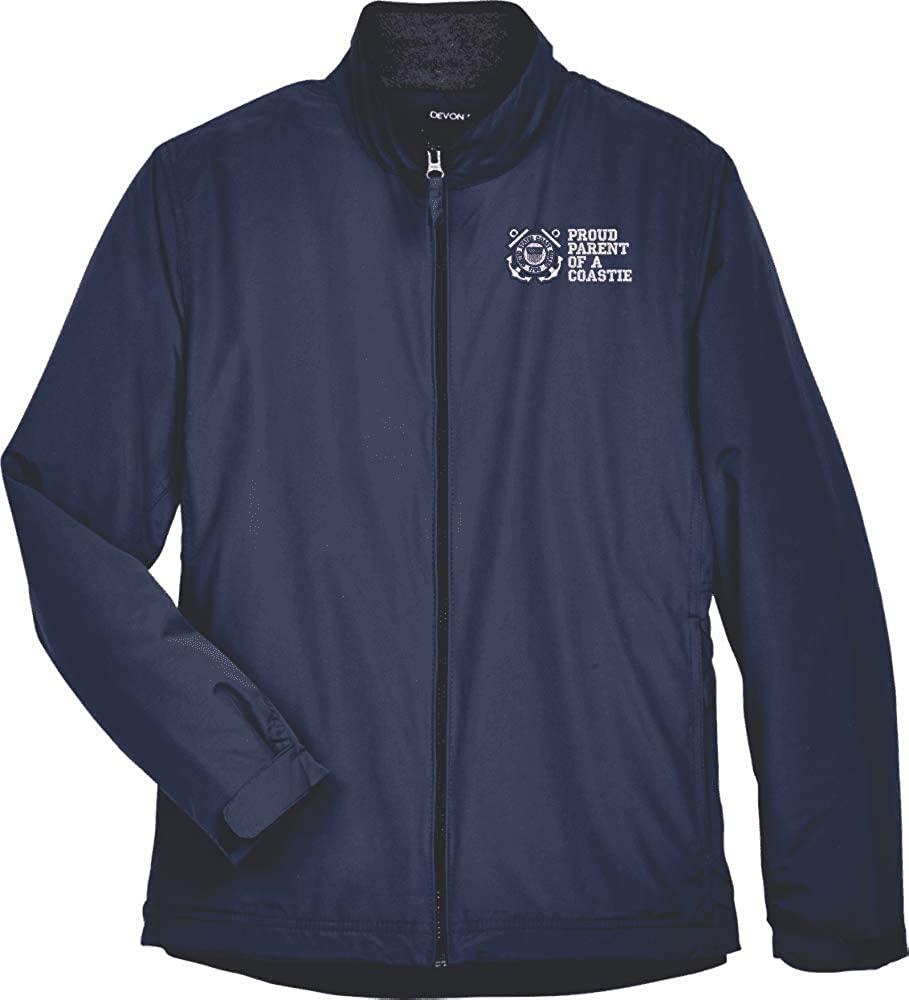 United States Coast Guard Anchor Insignia Proud Parent of a Coastie Womens Devon & Jones Jacket