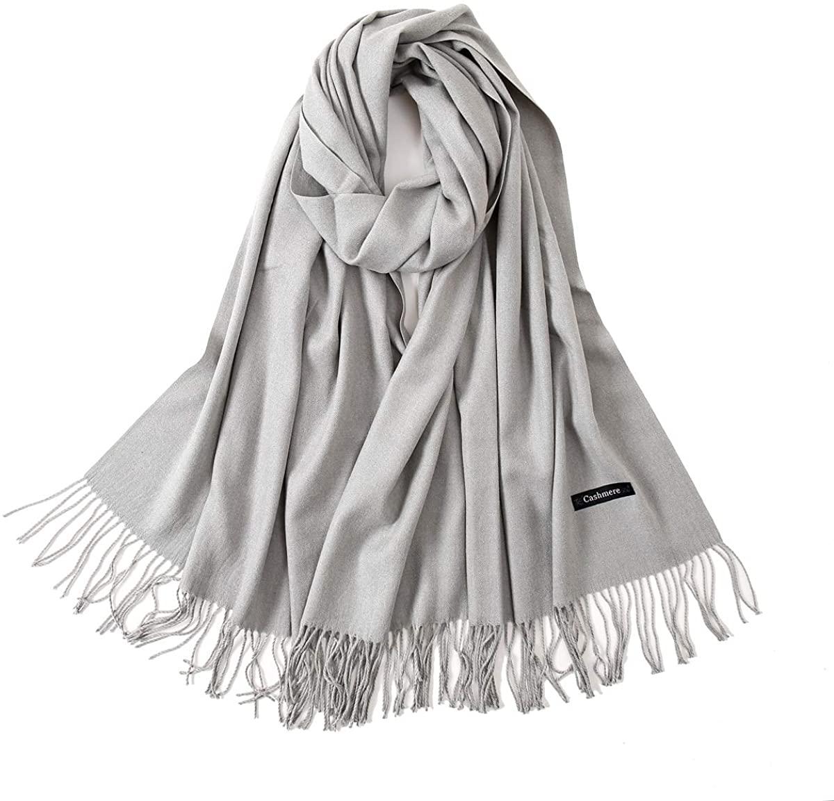 YANXI Cashmere Scarf ShawlSuper Soft Stylish Large Warm Blanket Shawls Wraps Light Scarf Wedding Pashmina(13 Colors)