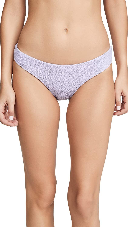 PilyQ Women's Smocked Bikini Bottoms