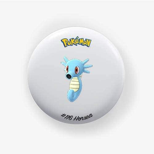 Horsea #116 : Go, Pinback Button Badge 1.50 Inch (38mm)