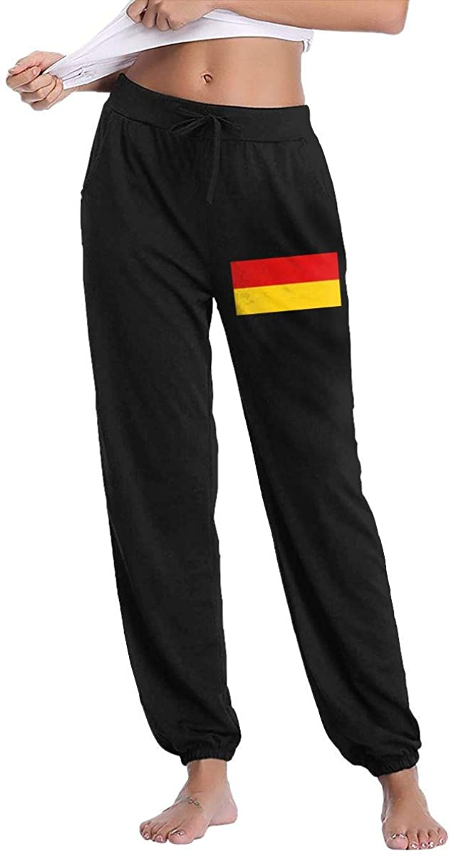 Women's Casual Sweatpants Flag of Germany Fitness Training Jogger Pants