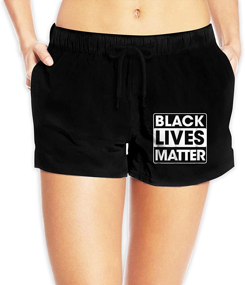 Women Sexy Hot Pants Summer Casual Shorts Black Lives Matter Short Beach Trousers