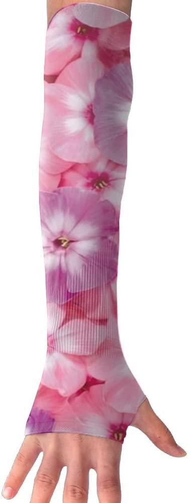 MASDUIH Purple Rose Flower Gloves Anti-uv Sun Protection Long Fingerless Arm Cooling Sleeve For Men And Women
