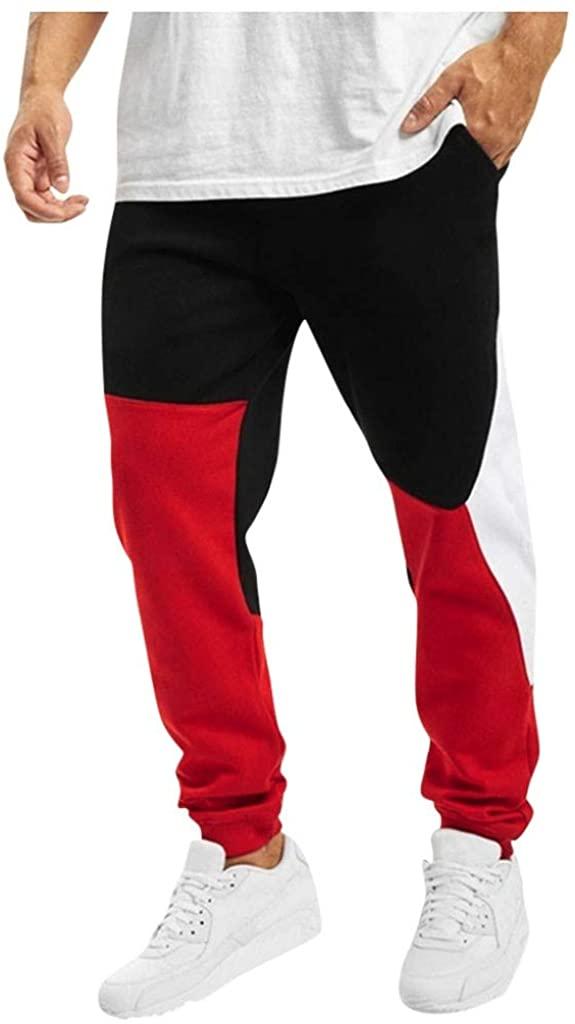 Casual Mens Warm Sports Bodybuilding Pocket Flexible Waist Long Pants Trousers