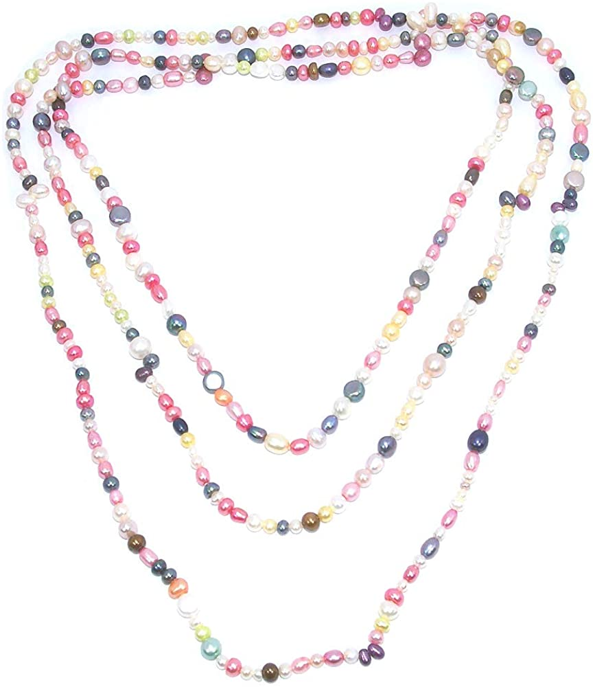 Gem for Love Fresh Water Pearl Necklace Multi-Color 72