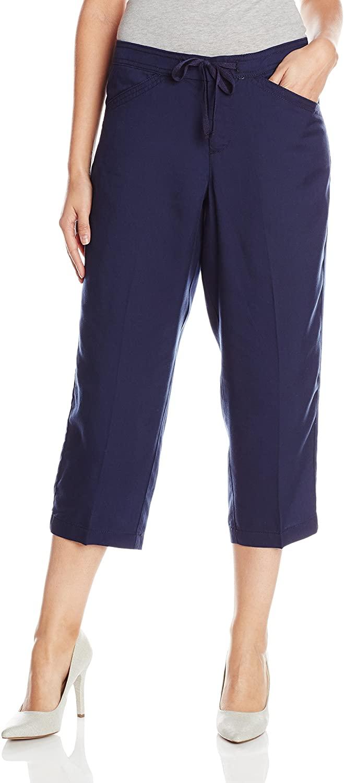 Lee Women's Natural Fit  Olive Capri Pant