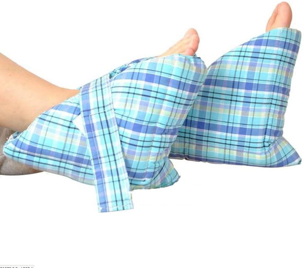 Effortsmy Medical Heel Cushions, Heel Protectors, Heel Protecti,Wheelchair Elderly Ankle Protective Case, 1 Pair, Blue