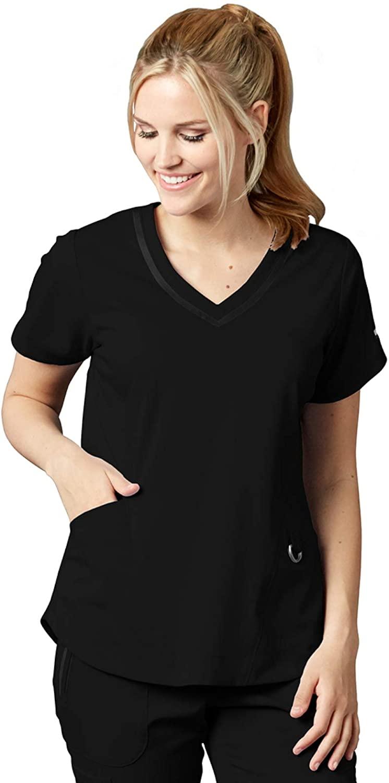 Grey's Anatomy Impact 7187 Women's Harmony Scrub Top Black 3XL