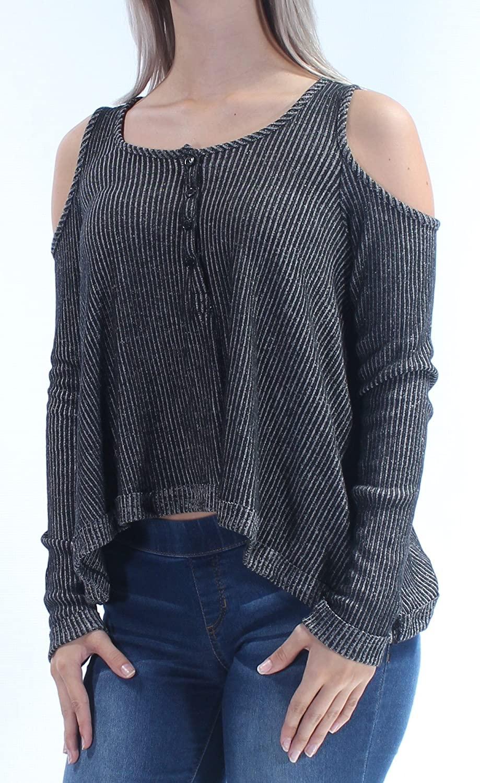 Chelsea Sky Womens Knit Henley Shirt