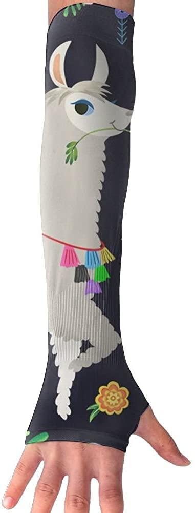 LINGMEI Alpaca Unisex Outdoor UV Protection Sunscreen Arm Sun Long-sleeved Gloves Men And Women