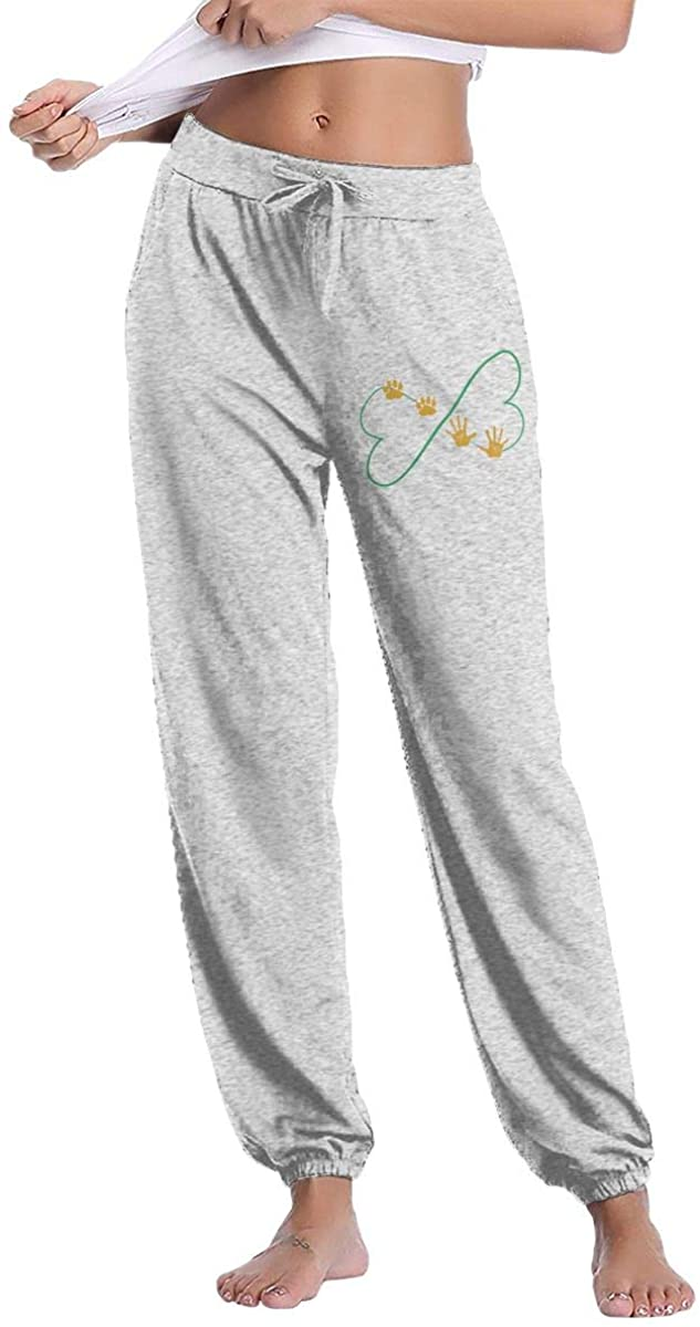 Women's Casual Sweatpants Dog Paw Prints Fitness Training Jogger Pant
