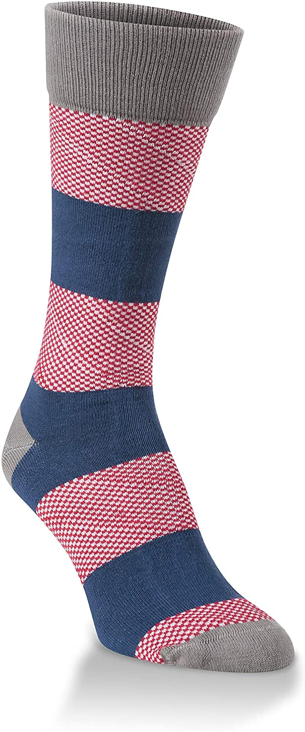 World's Softest Knit Pickin' Women's One Size Cotton Hometown Rugby Crew Socks, Americana