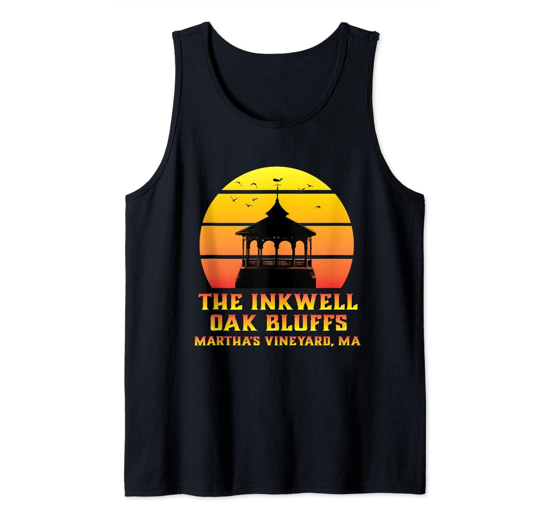 Sunset Gazebo Inkwell Beach Oak Bluffs Martha's Vineyard MA Tank Top