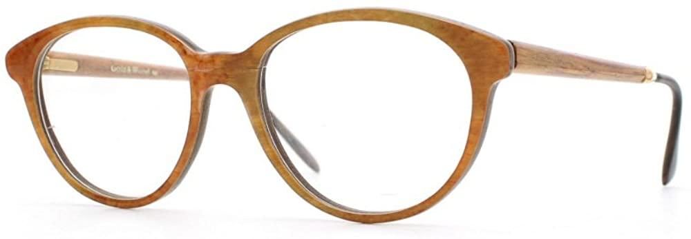 Gold & Wood 1.732 43 Orange and Brown Authentic Women Vintage Eyeglasses Frame
