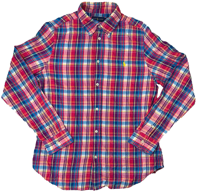 Polo Ralph Lauren Women's Relaxed-Fit Cotton Plaid Shirt
