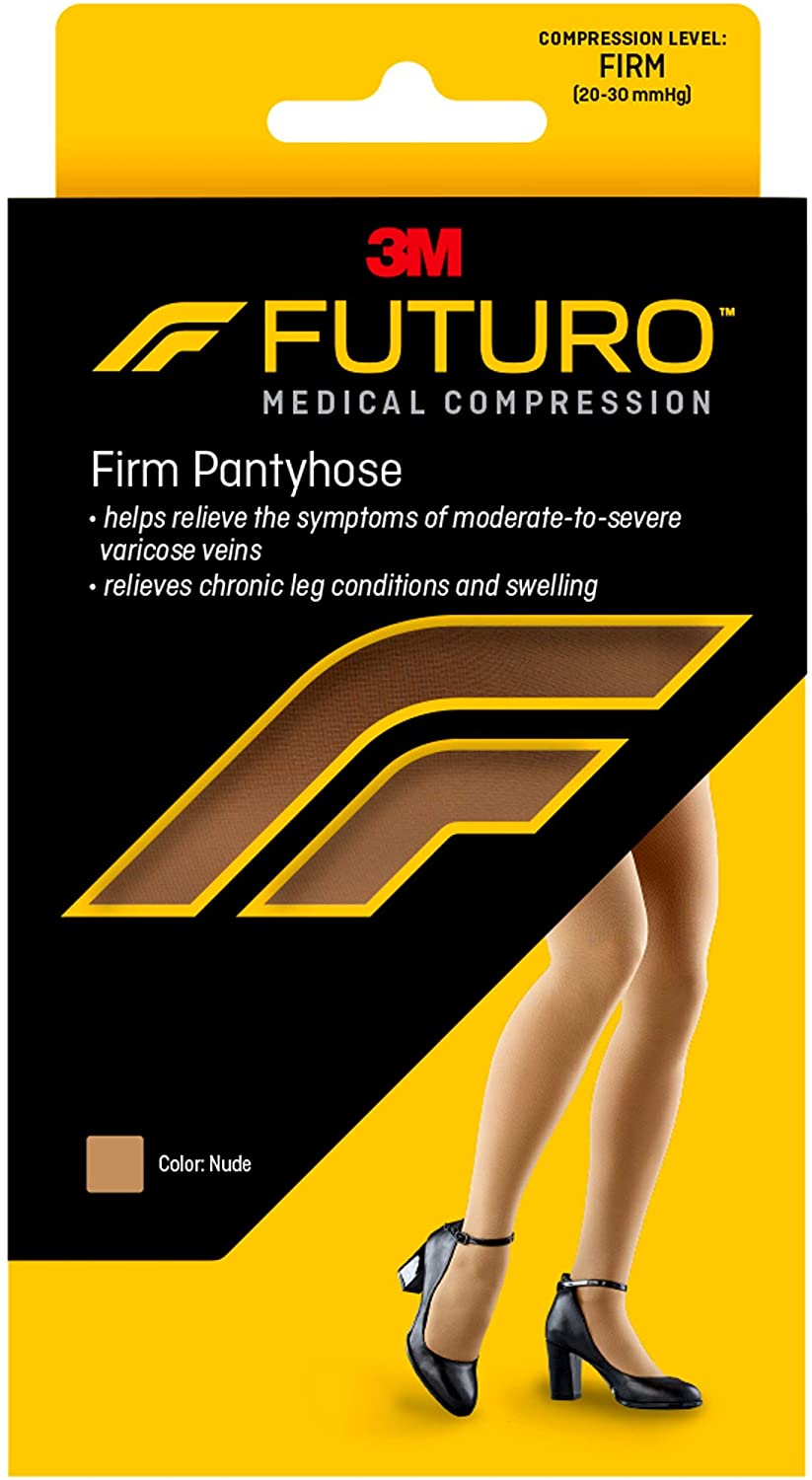 Futuro Pantyhose for Women, Firm Compression, 20-30 mm/Hg, Helps Improve Circulation to Help Minmize Swelling