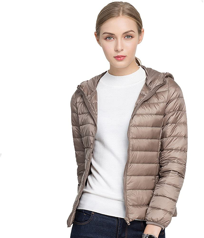 Jackcsale Womens Hooded Packable Ultra Light Down Jacket Coat Puffer