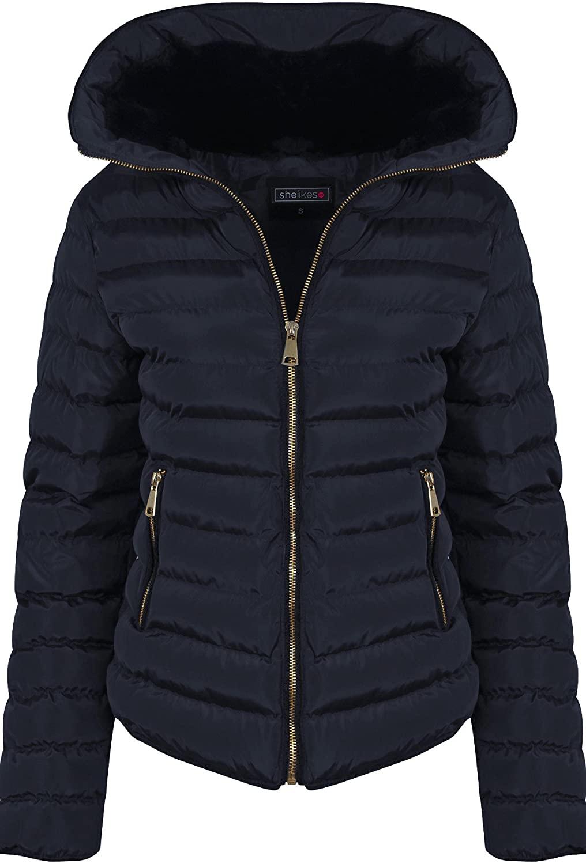 shelikes Womens Quilted Autumn Jacket UK 8-16