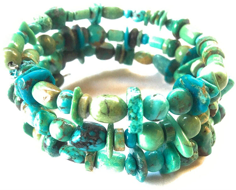 Nizhoni Traders LLC Turquoise Adjustable Wrap Bracelet