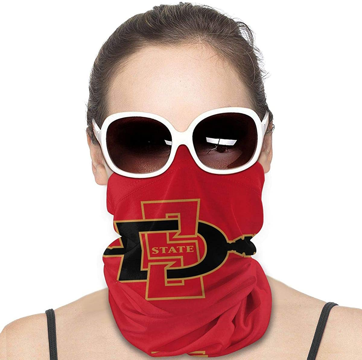 Neck Gaiter San Diego State Aztecs Face Mask Reusable Cloth Face Cover Washable Bandana, Sun Dust Protection Balaclava Scarf Shield for Fishing Cycling