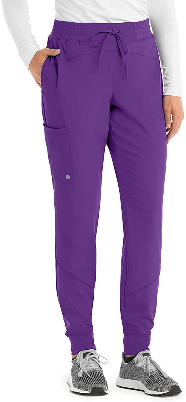 BARCO One BOP513 Women's Three Pocket Elastic Waist Cargo Jogger Scrub Pant Prism XL