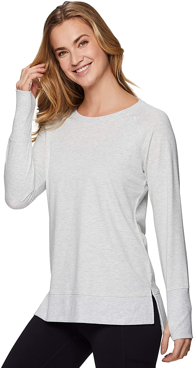 RBX Active Womens Fashion Lightweight French Terry Sweater Pullover Sweatshirt
