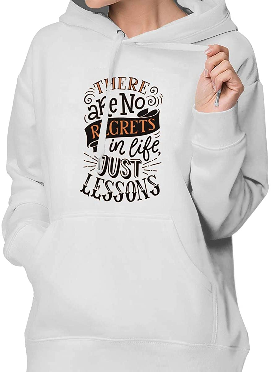 There is No Regrets in Life, Just Lessons Women's Pullover Hoodie Sweatshirt with Pocket