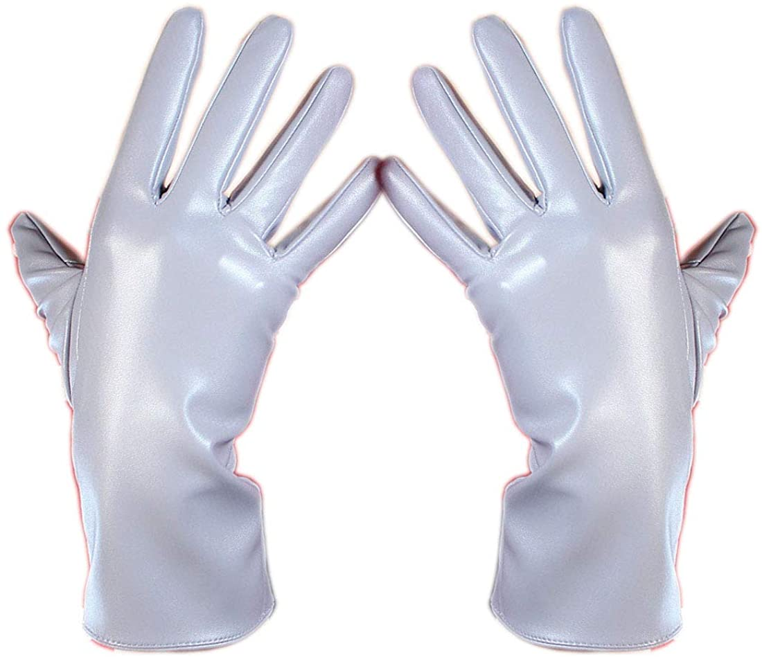 SHOET GLOVES Faux Leather Lambskin Sheepskin PU 11