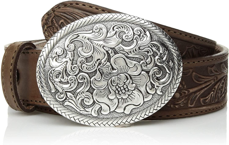 Nocona Belt Co. Women's USA Aged Floral Buckle Belt
