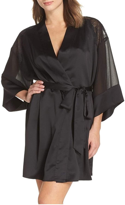 Flora Nikrooz Margo Black Robe Large