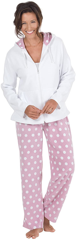 PajamaGram Snuggle Fleece Pajamas Women - Pajamas for Women Cuddly Soft