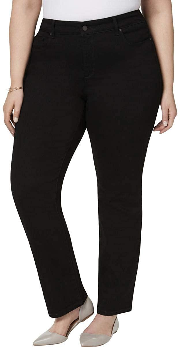 Charter Club Womens Plus Lexington Petite Denim Straight Leg Jeans