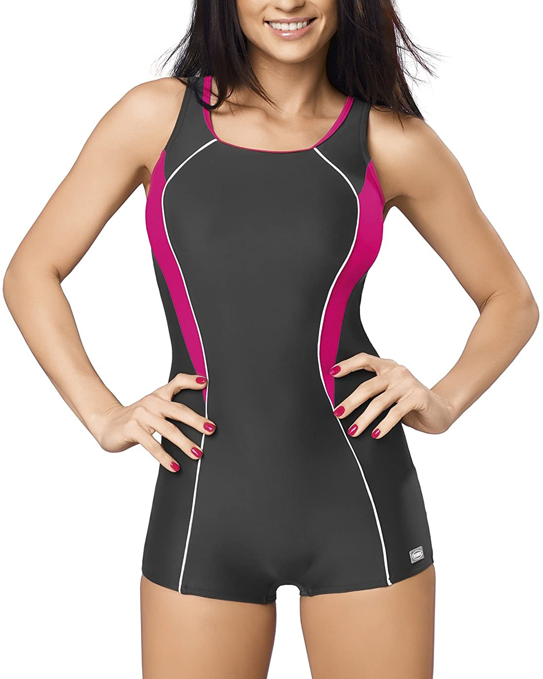 Gwinner Isabel II Women's one Piece Swimsuit Shorts Removable Pads Sports Style