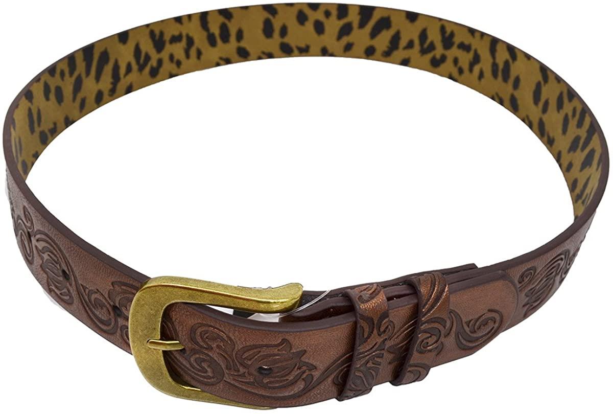 Style & Co. Women's Brown/Gold Swirl Belt (Small)