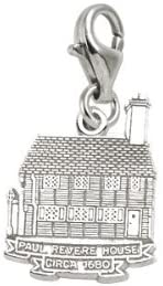 Rembrandt Charms Boston, Paul Revere House Charm with Lobster Clasp