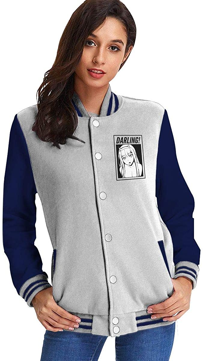 Darling in The Franxx Comfortable Women's Casual Jacket Baseball Button Jacket