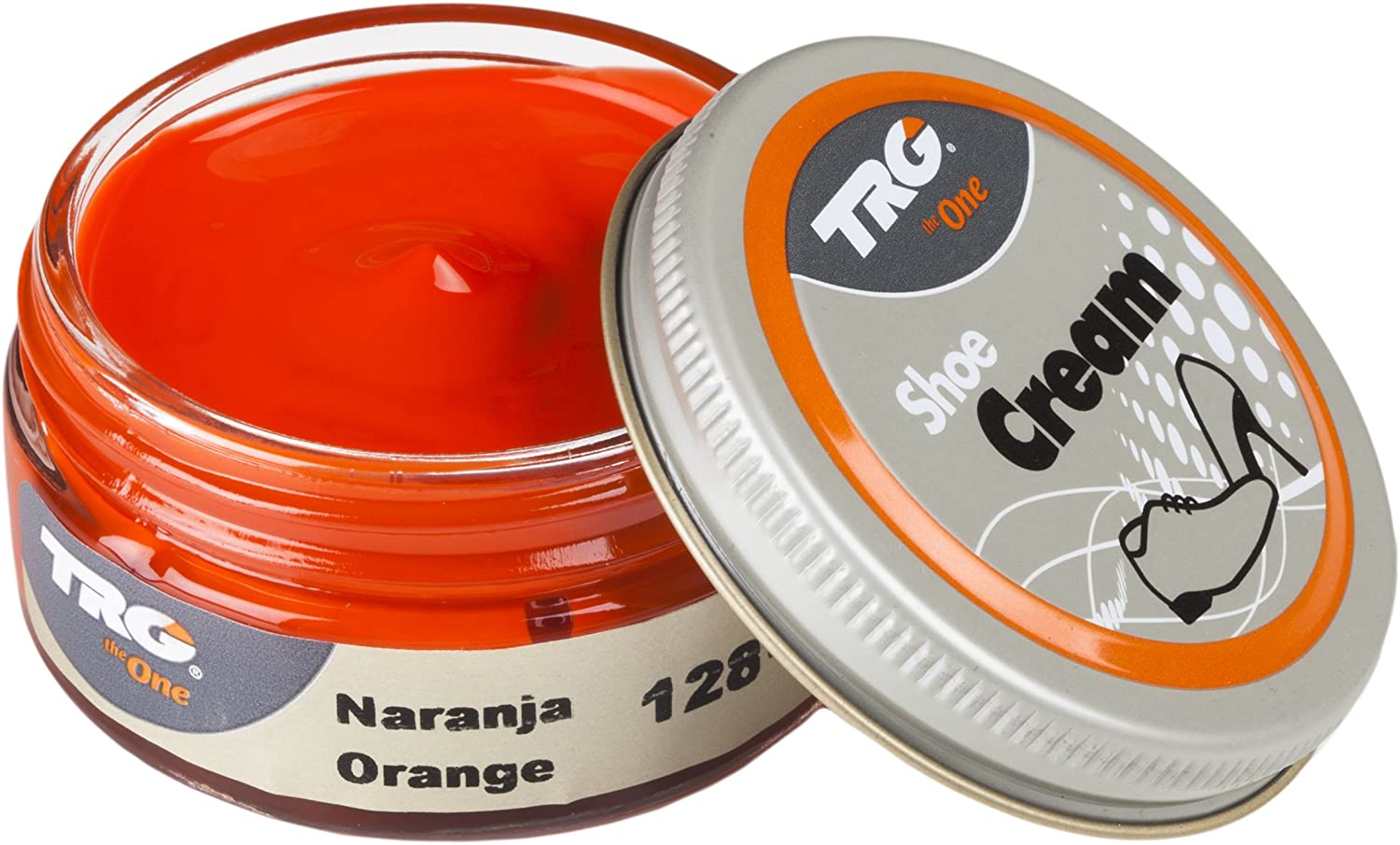 TRG Leather Cream Shoes for Bags, Nourishment and Care, Many Colors, 1.7 fl.Oz (128 - Orange)