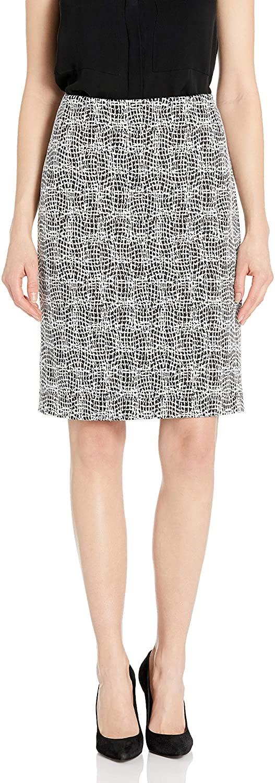 Kasper Women's Petite Knit Metallic Jacquard Skirt