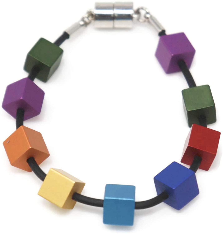 BoutiqueS Women Bracelet with Multiple Color Aluminum Beans Gift for Women Ladies …