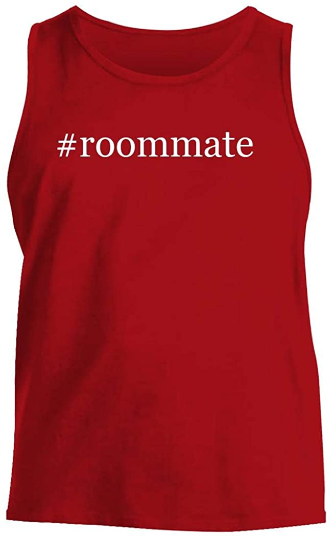 #roommate - Men's Hashtag Comfortable Tank Top, Red, Small