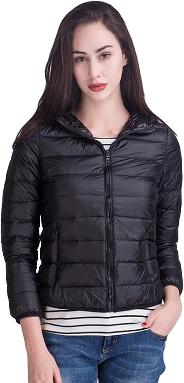 Sunfan Women's Hoodded Packable Ultra Light Weight Short Down Jacket Coat